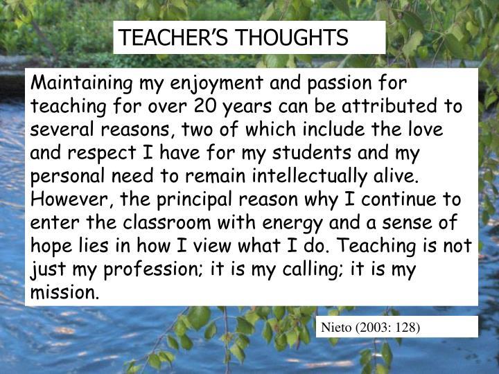 Teacher s thoughts