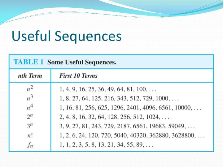Useful Sequences