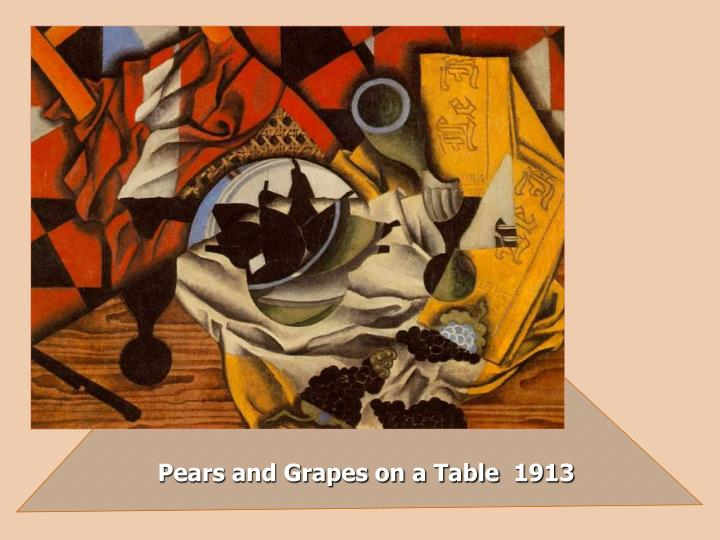 Pears and Grapes on a Table  1913