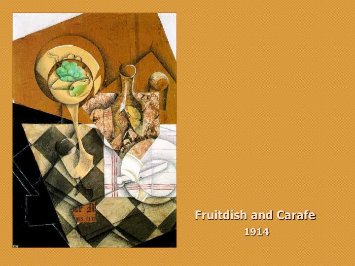Fruitdish and Carafe