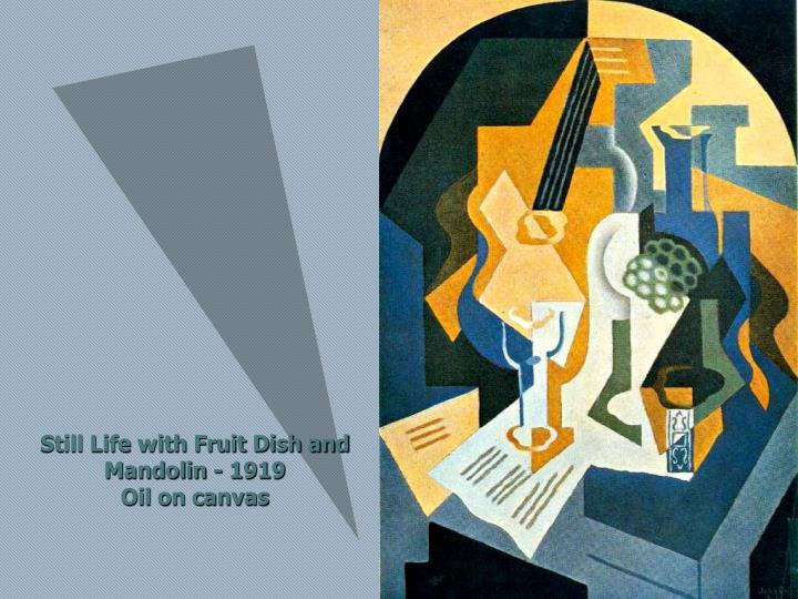 Still Life with Fruit Dish and Mandolin - 1919