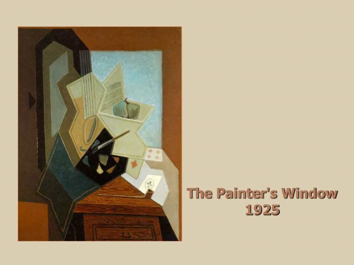 The Painter's Window  1925