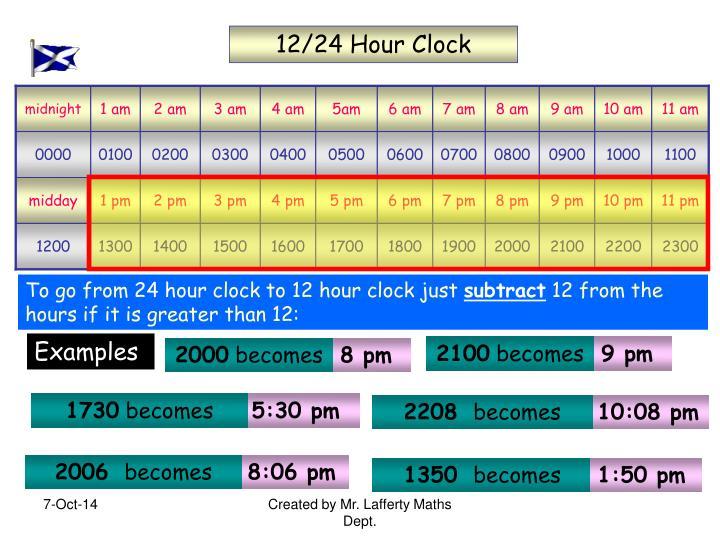 12/24 Hour Clock