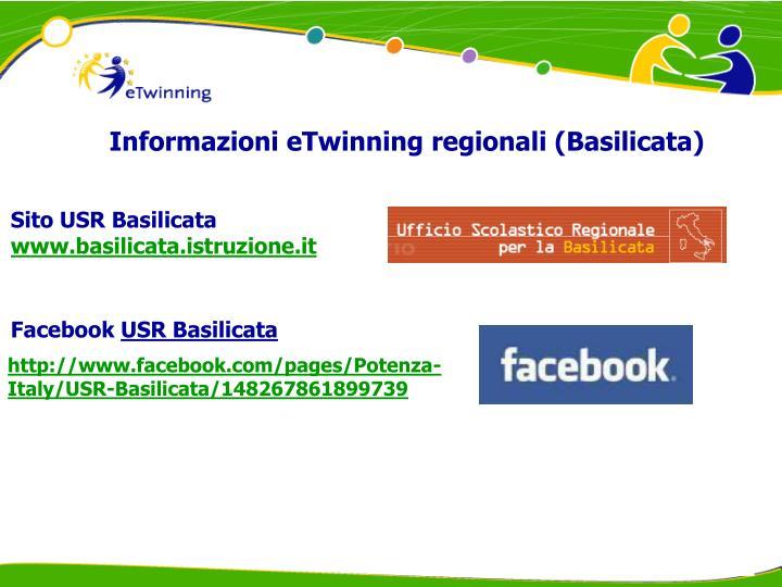 Informazioni eTwinning regionali (Basilicata)