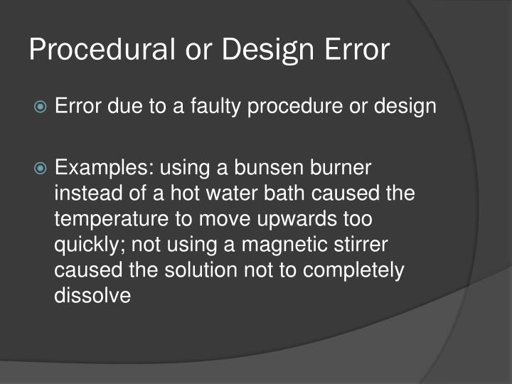 Procedural or Design