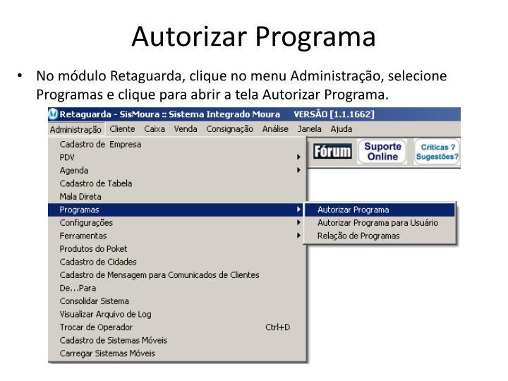 Autorizar Programa