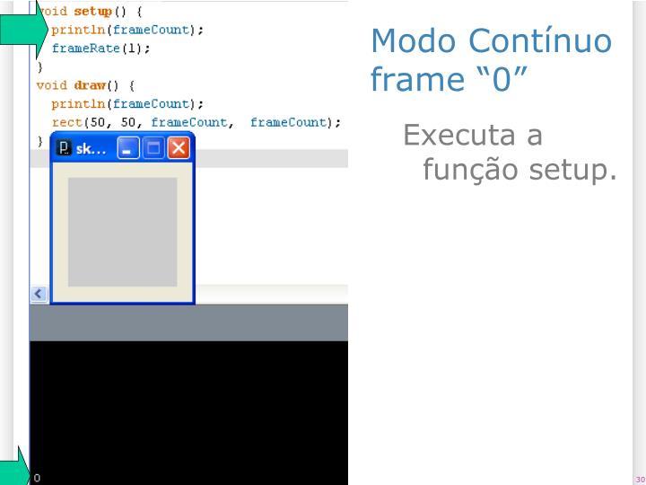 """Modo Contínuo frame """"0"""""""