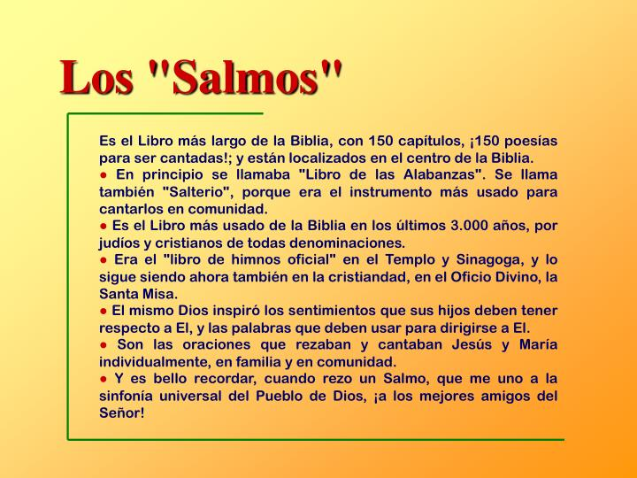 """Los """"Salmos"""""""