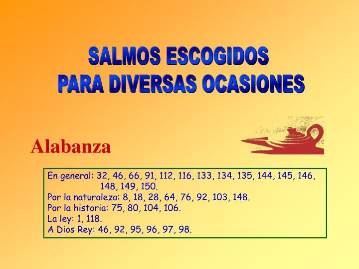 SALMOS ESCOGIDOS