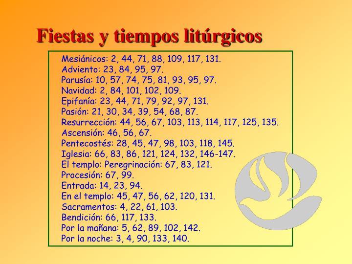 Fiestas y tiempos litúrgicos