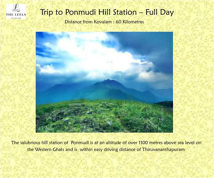 Trip to Ponmudi Hill Station – Full Day