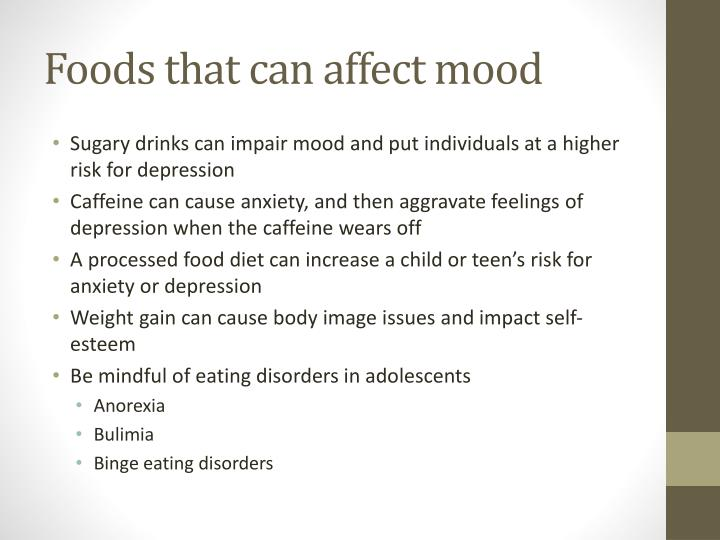 Foods that can affect mood