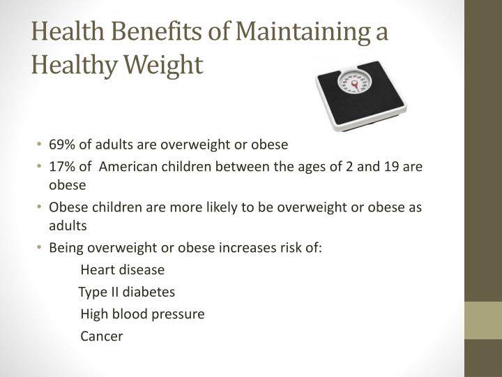 Health benefits of maintaining a healthy weight
