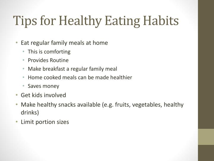 Tips for Healthy Eating Habits