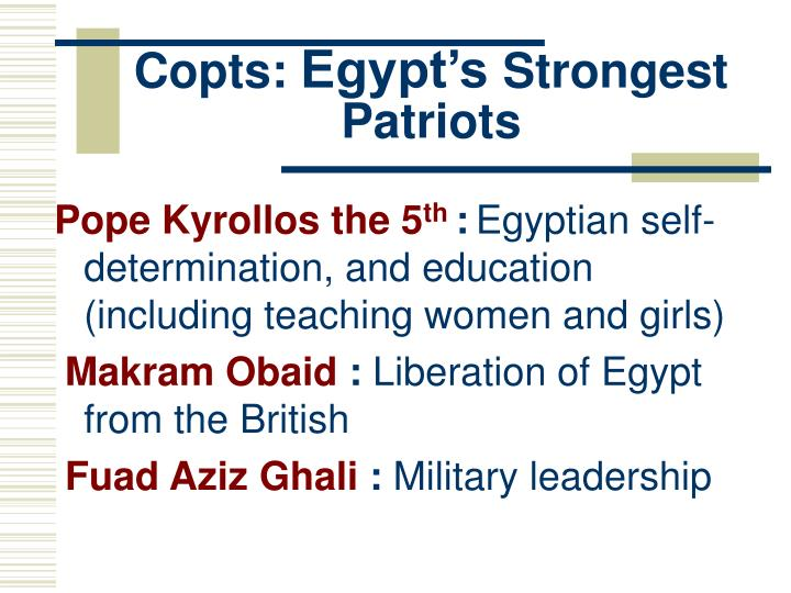 Copts egypt s strongest patriots