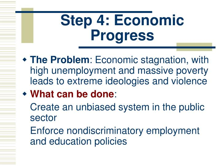 Step 4: Economic Progress