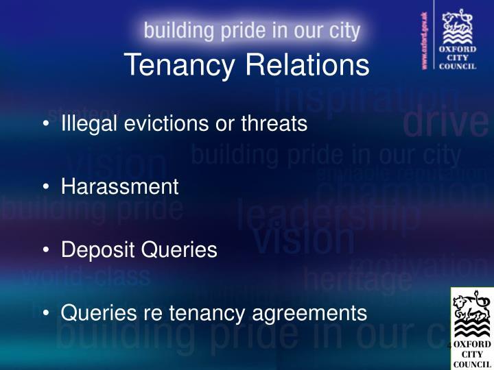 Tenancy Relations