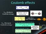 coulomb effects