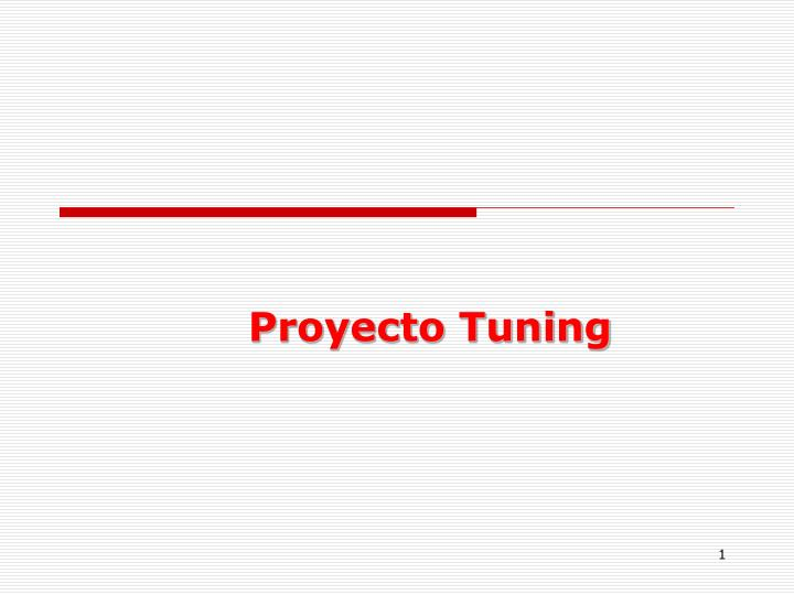 proyecto tuning n.