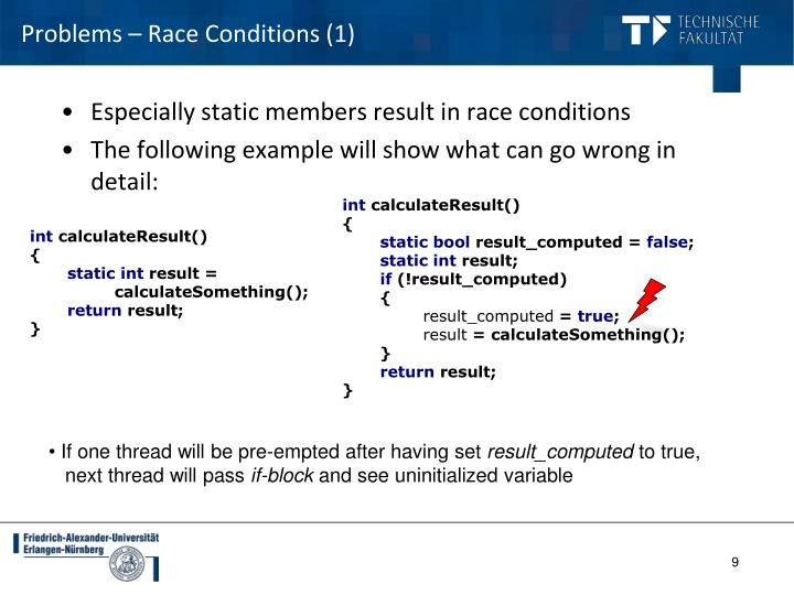 Problems – Race Conditions (1)
