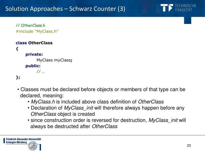 Solution Approaches – Schwarz Counter (3)