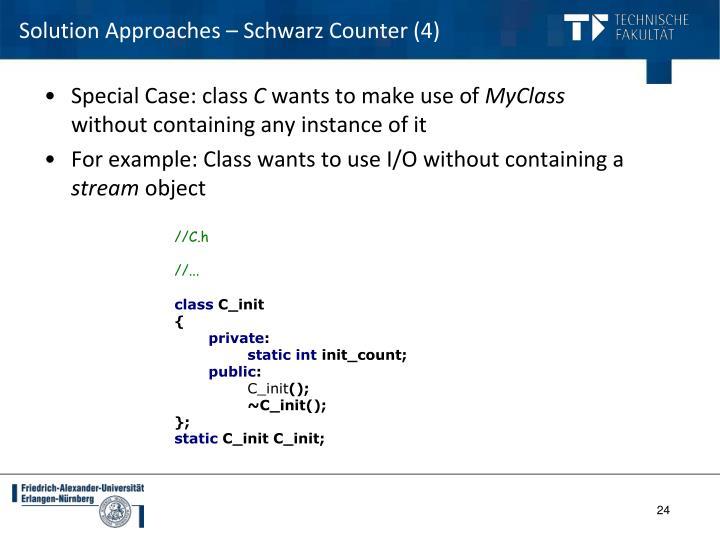 Solution Approaches – Schwarz Counter (4)