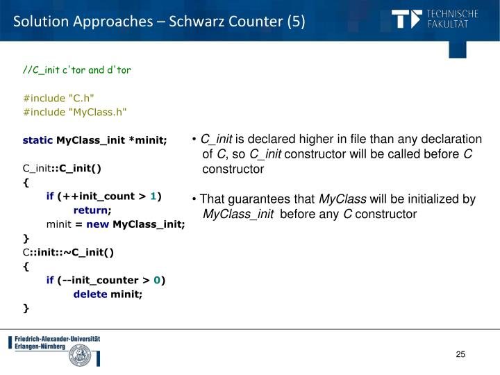 Solution Approaches – Schwarz Counter (5)