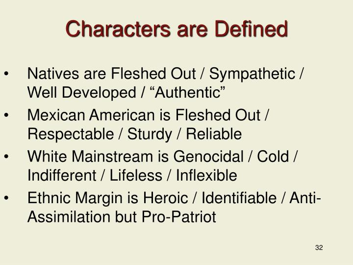 Characters are Defined