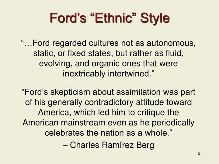"Ford's ""Ethnic"" Style"