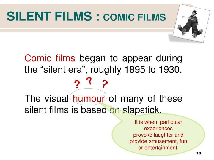 SILENT FILMS :