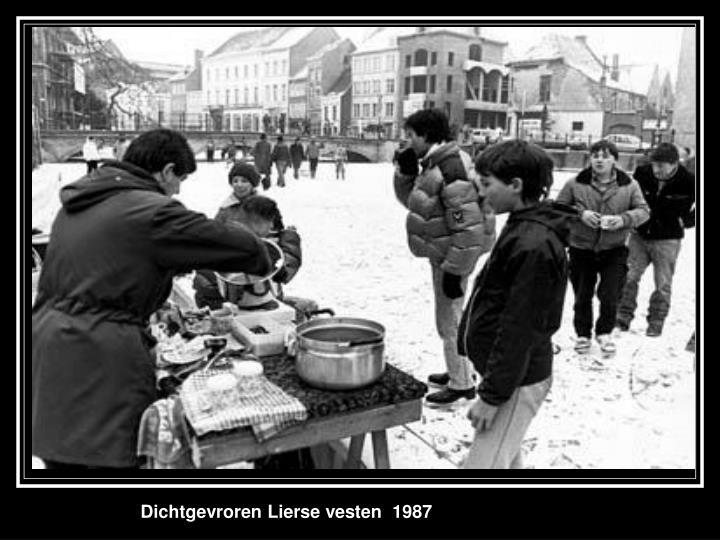 Dichtgevroren Lierse vesten  1987
