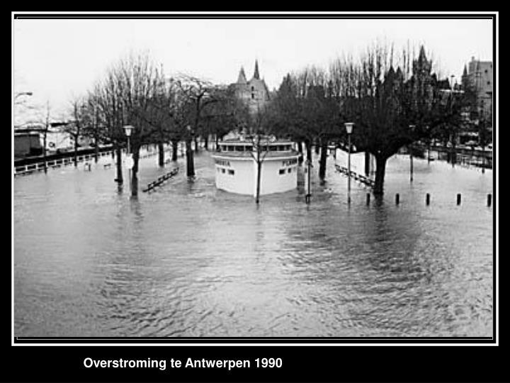 Overstroming te Antwerpen 1990