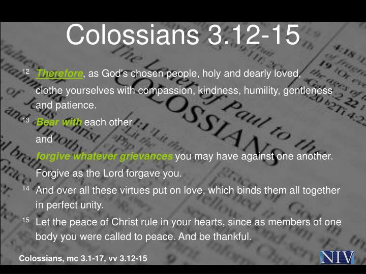 Colossians 3.12-15