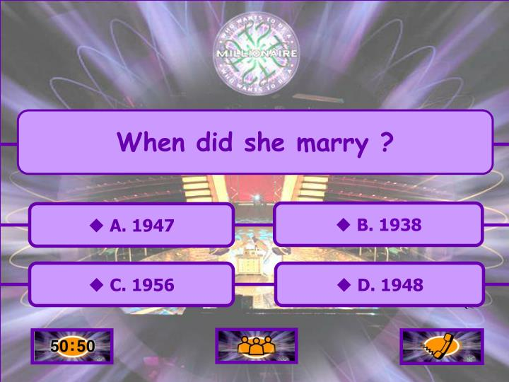 When did she marry ?