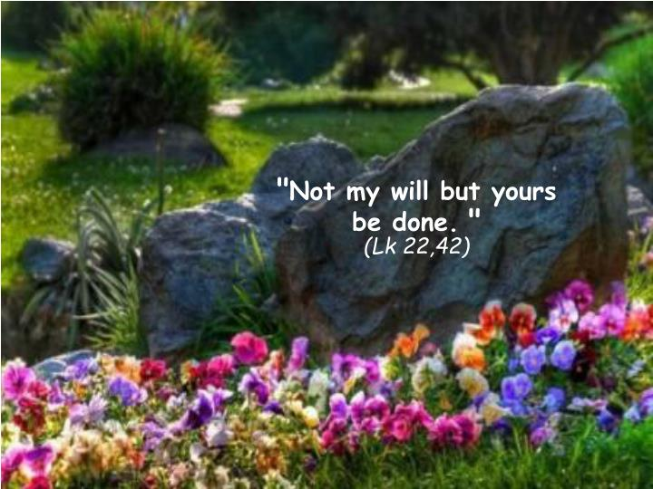 Not my will but yours be done lk 22 42