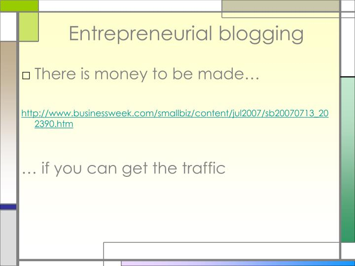 Entrepreneurial blogging