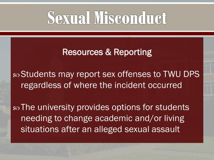 Sexual Misconduct
