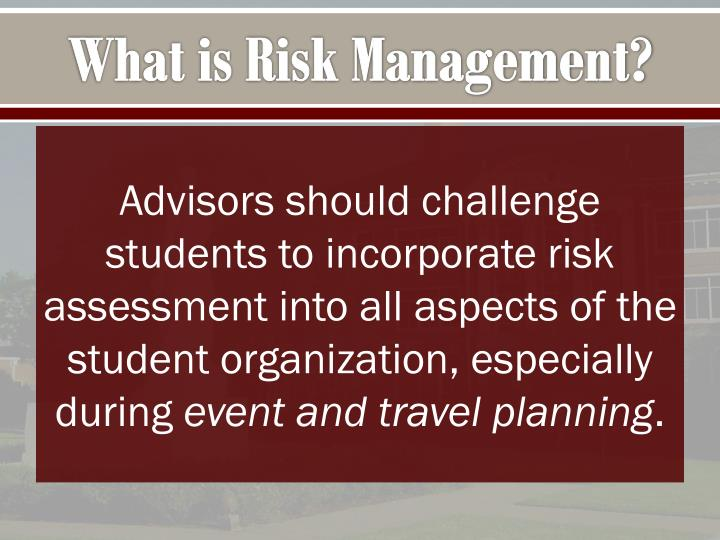 What is risk management1