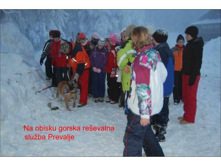 Na obisku gorska reševalna