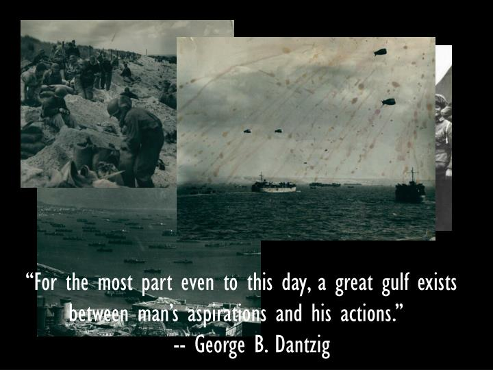 """""""For the most part even to this day, a great gulf exists"""