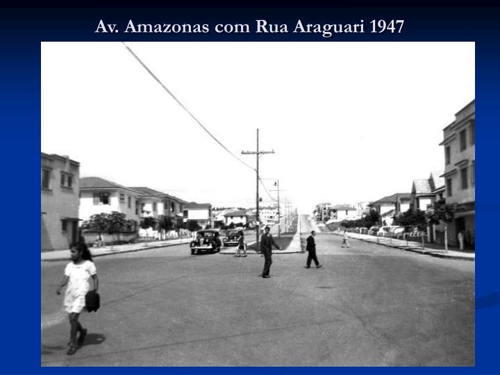 Av amazonas com rua araguari 1947