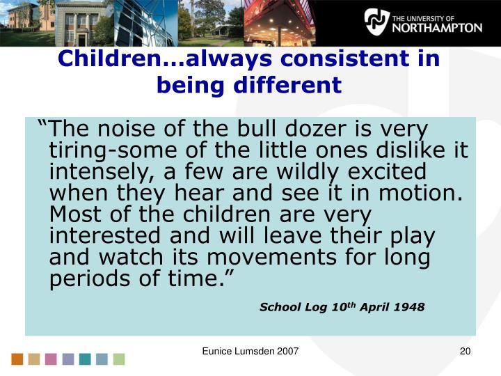 Children…always consistent in being different