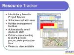 resource tracker