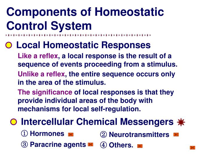 Components of Homeostatic Control System