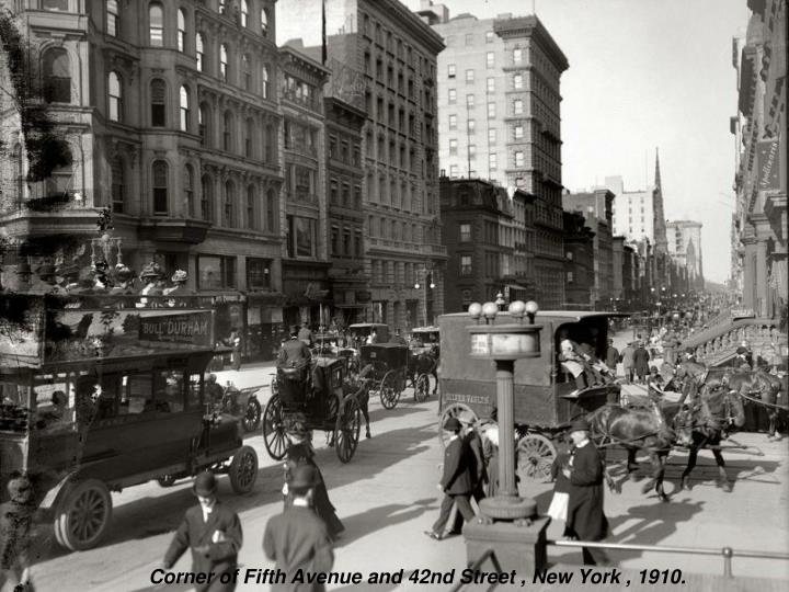 Corner of Fifth Avenue and 42nd Street , New York , 1910.
