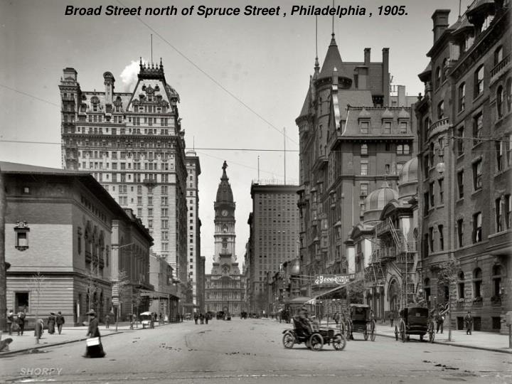 Broad Street north of Spruce Street , Philadelphia , 1905.