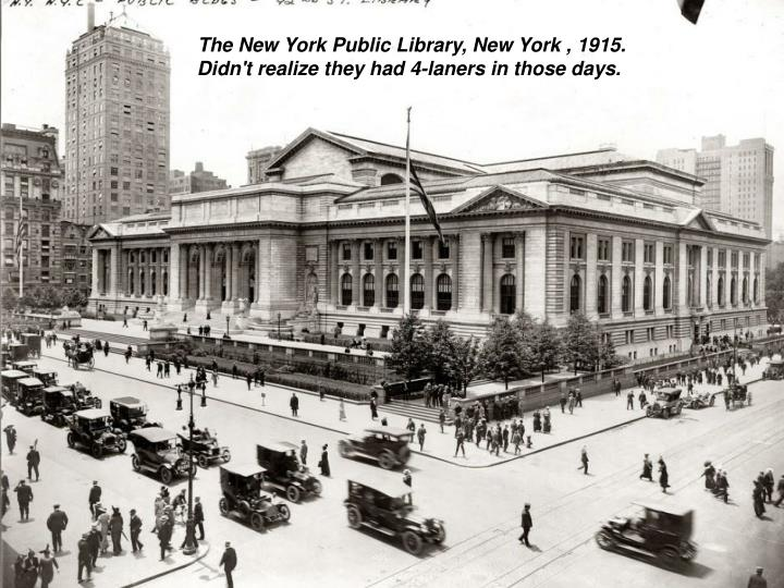 The New York Public Library, New York , 1915.