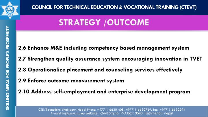 COUNCIL for TECHNICAL EDUCATION & VOCATIONAL TRAINING (CTEVT)