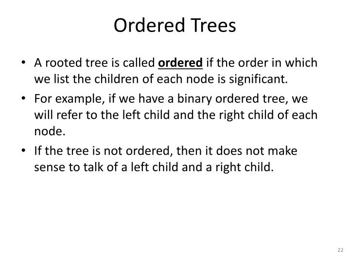 Ordered Trees