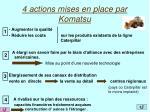 4 actions mises en place par komatsu